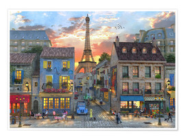 Premium-plakat streets of paris