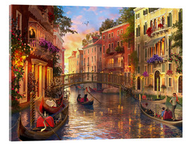 Akrylbillede  sunset in venice - Dominic Davison