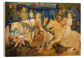 Print på træ  Riders of the Sidhe - John Duncan