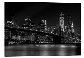 Akrylbillede  Brooklyn Bridge at Night - Thomas Klinder