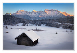 Premium-plakat Geroldsee at wintertime, Bavarian , Germany