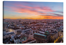 Lærredsbillede  Vienna Skyline at sunset, Austria - Mike Clegg Photography