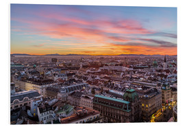 Print på skumplade  Vienna Skyline at sunset, Austria - Mike Clegg Photography