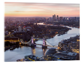 Akrylbillede  Colourful sunsets in London - Mike Clegg Photography
