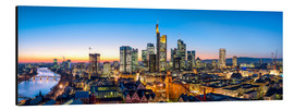 Print på aluminium  Skyline panorama from Frankfurt - Jan Christopher Becke