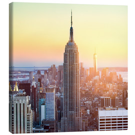 Lærredsbillede  Empire State Building in New York City at sunset - Jan Christopher Becke