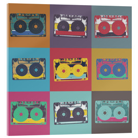 Akrylbillede  colorful cassettes