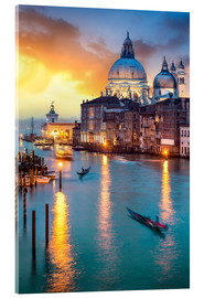 Akrylbillede  Grand Canal with Santa Maria della Salute in Venice, Italy - Jan Christopher Becke