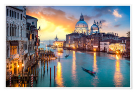 Premium-plakat Grand Canal at sunset in Venice, Italy