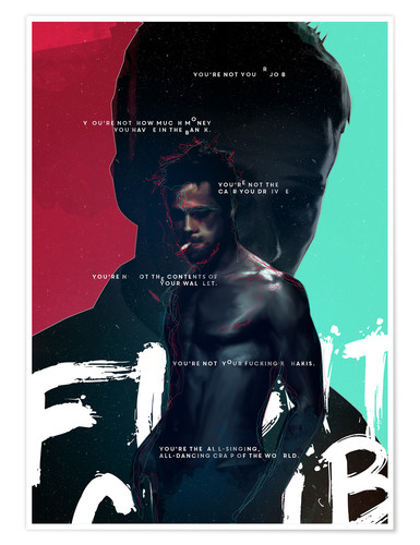 Premium-plakat Fight Club