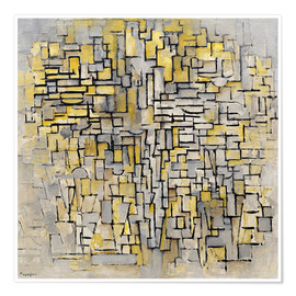Premium-plakat  Tableau No. 2/Composition No. VII - Piet Mondriaan