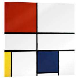 Akrylbillede  Composition C (No.III) with Red, Yellow and Blue - Piet Mondriaan