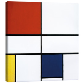 Lærredsbillede  Composition C (No.III) with Red, Yellow and Blue - Piet Mondriaan