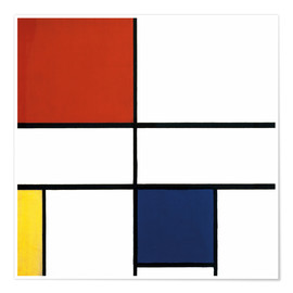 Premium-plakat  Composition C (No.III) with Red, Yellow and Blue - Piet Mondrian