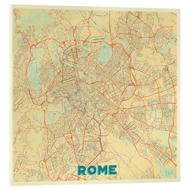 Akrylbillede  Rome Map Retro - Hubert Roguski