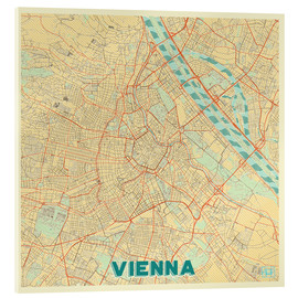 Akrylbillede  Vienna Map Retro - Hubert Roguski