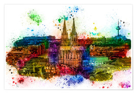 Premium-plakat Cologne Skyline Cologne Cathedral