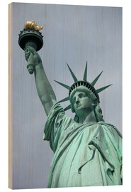 Print på træ  Statue of Liberty in the portrait - Catharina Lux