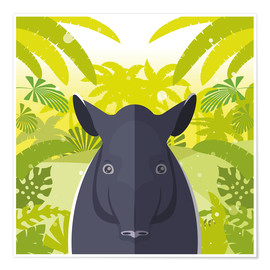 Premium-plakat Habitat of the Tapir