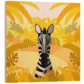 Print på træ  Habitat of the zebra - Kidz Collection