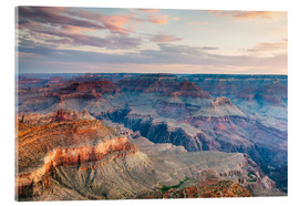 Akrylbillede  Sunset over the Grand Canyon south rim, USA - Matteo Colombo