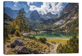 Lærredsbillede  Idyllic mountain lake in the Tyrol mountains (Austria) - Christian Müringer