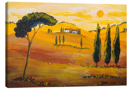 Lærredsbillede  Sunshine in Tuscany in the Morning - Christine Huwer