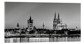 Akrylbillede  Magnificent Cologne black and white - Michael Valjak