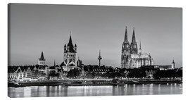 Lærredsbillede  Magnificent Cologne black and white - Michael Valjak