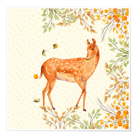 Premium-plakat Magical Deer in Forest