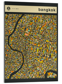 Akrylbillede  BANGKOK MAP - Jazzberry Blue