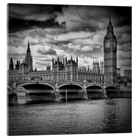 Akrylbillede  LONDON Houses of Parliament & Westminster Bridge - Melanie Viola