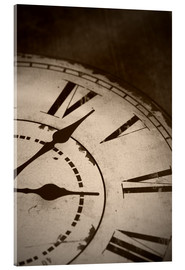 Akrylbillede  picture of an old vintage clock