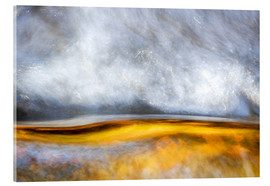 Akrylbillede  Abstract Silver and Gold - Sander Grefte