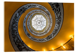 Akrylbillede  Spiral staircase in the Vatican Museum, Italy - Jan Christopher Becke