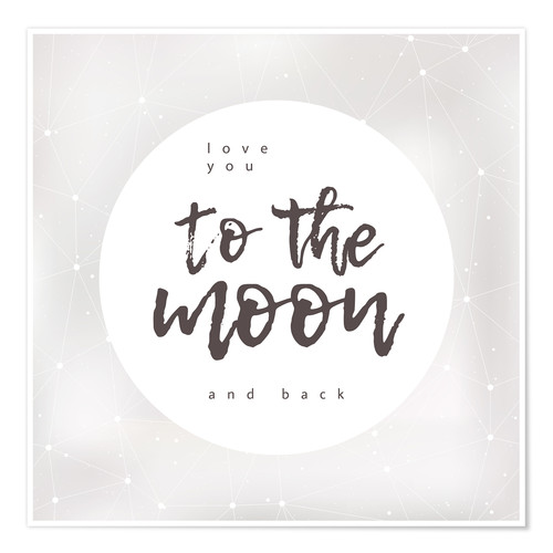 Premium-plakat Love you (to the moon and back)