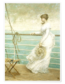 Premium-plakat Lady on the Deck of a Ship