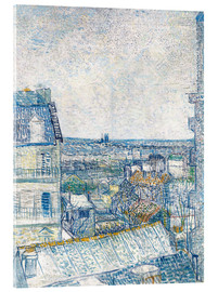 Akrylbillede  View from the Artist's Window, Rue Lapic - Vincent van Gogh