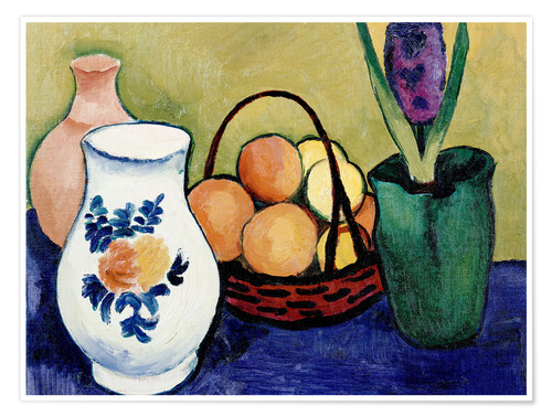 Premium-plakat The White Jug with Flower and Fruit