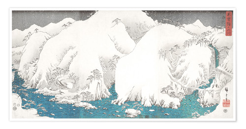 Premium-plakat Mountains and Rivers of Kiso