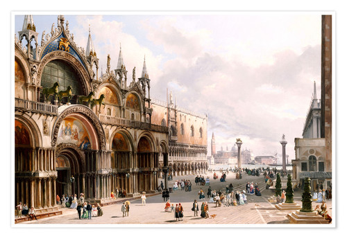 Premium-plakat The Basilica di San Marco and the Doge's Palace in Venice