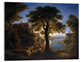 Akrylbillede  Castle on the River - Karl Friedrich Schinkel