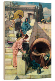 Print på træ  Diogenes - John William Waterhouse