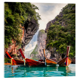 Akrylbillede  Railay beach in Krabi Thailand