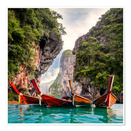 Premium-plakat Railay beach in Krabi Thailand