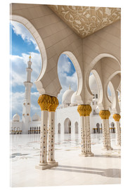 Akrylbillede  View of Sheikh Zayed Grand Mosque
