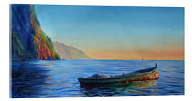 Akrylbillede  base of petit piton with gommier boat - Jonathan Guy-Gladding