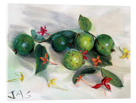 Akrylbillede  guavas and ixora2 - Jonathan Guy-Gladding