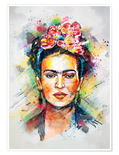 Premium-plakat Frida Flower Pop