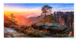 Premium-plakat View into the Saxon Switzerland III